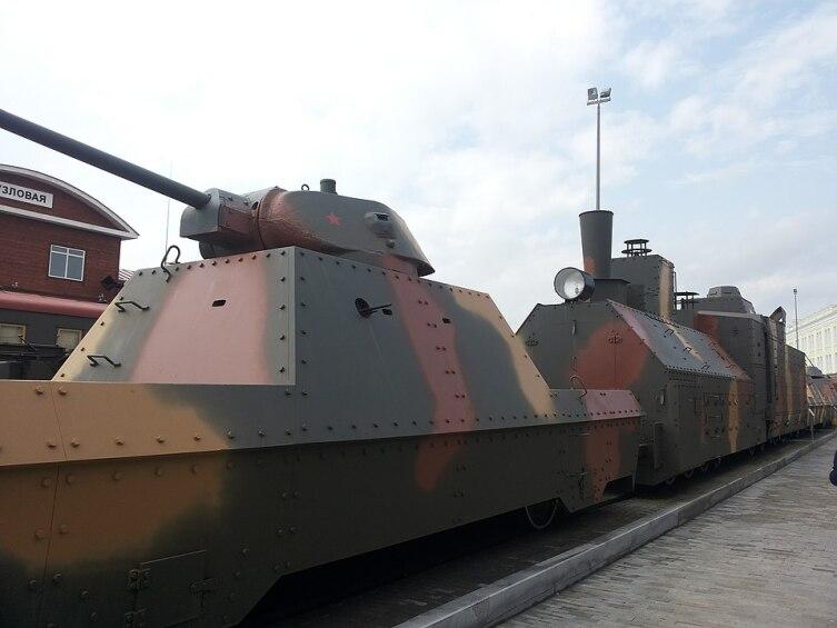 Бронепоезд БП-43 в музее техники УГМК