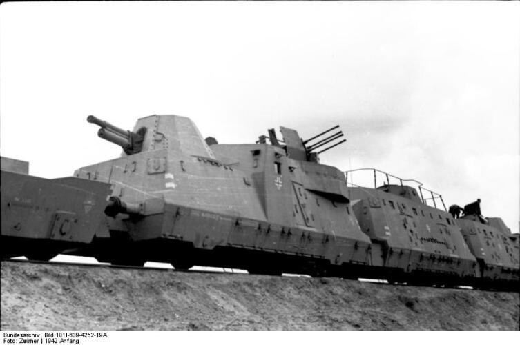 Немецкий бронепоезд, 1942 г.