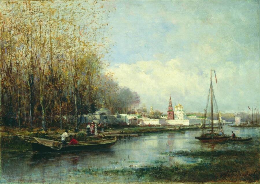 А. П. Боголюбов, «Монастырь», 1860-е гг.