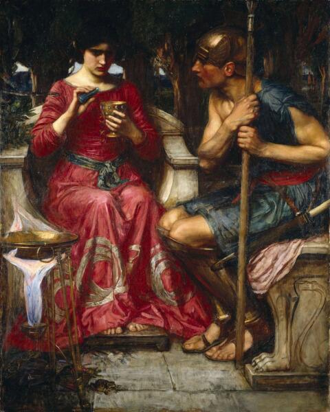 Джон Уильям Уотерхаус, «Ясон и Медея», 1907 г.