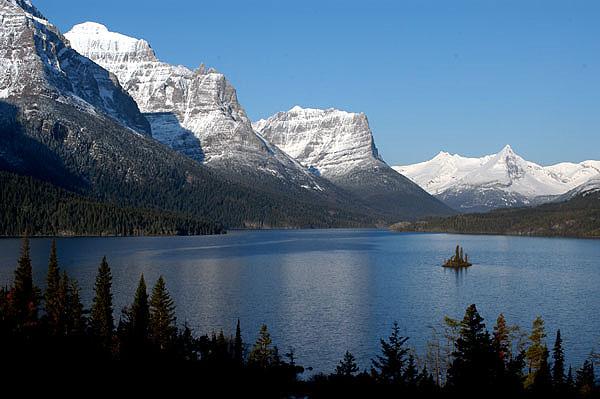 Вид на озеро Сент-Мэри. Национальный парк Глейшер