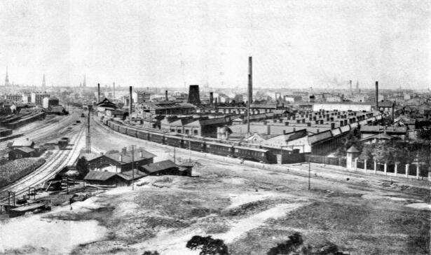 Русско-Балтийский вагонный завод. Фото 1909 г.