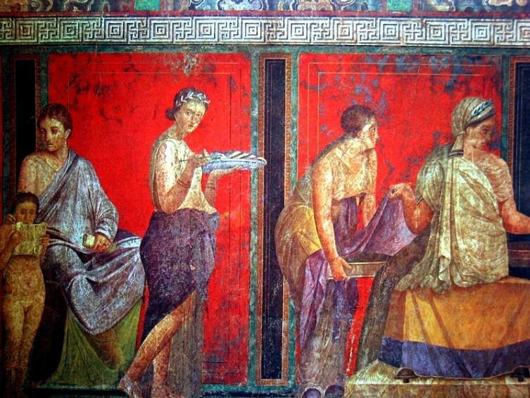 Фрески Помпей, античная живопись. Вилла Мистерий