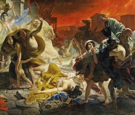 К. П. Брюллов, «Последний день Помпеи» (фрагмент), 1830-е гг.