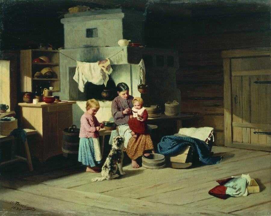И. А. Пелевин, «Кормление ребенка», 1890 г.