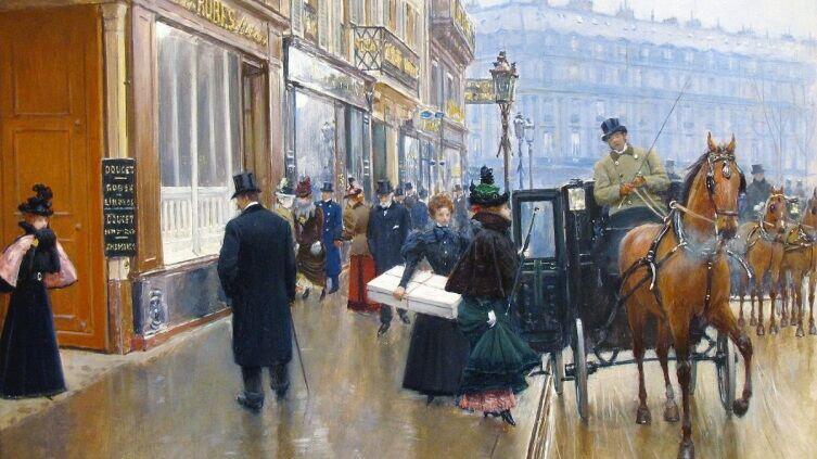 Жан Беро, «Дом моды кутюрье Дусе», 1891 г.
