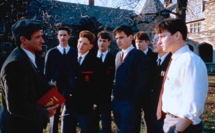 Кадр из к/ф «Общество мертвых поэтов», 1989 г.
