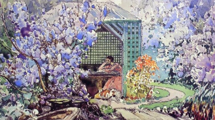 И. Г. Мясоедов, «Беседка в саду», 1900-е гг.