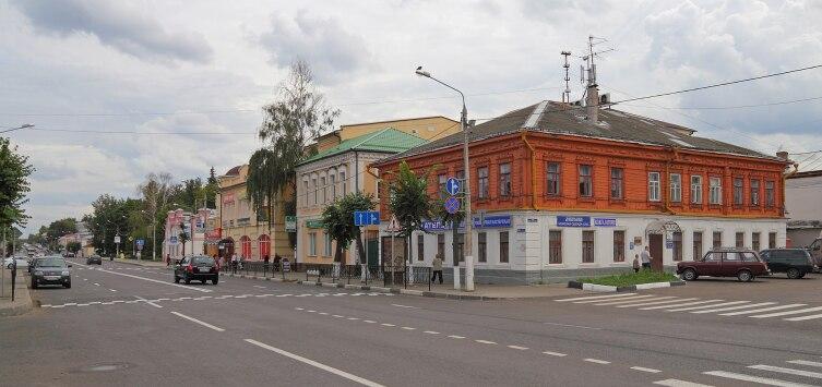 Советская улица в центре города Егорьевск