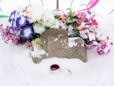 Каменный крест, «растущий» из-под земли