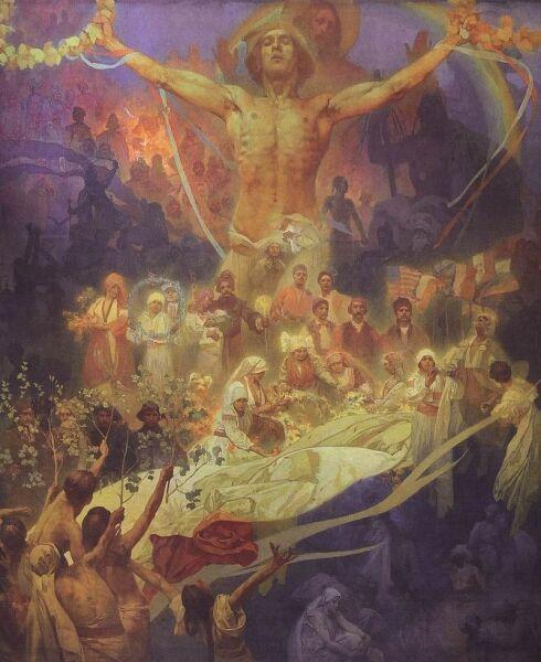А. Муха, «Апофеоз истории славян», 1926 г.