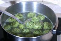 Клецки с зеленью
