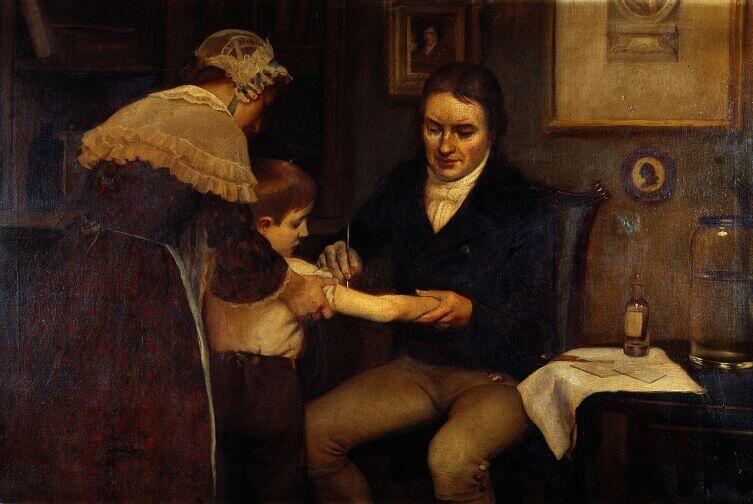 Эрнест Борд, «Доктор Дженнер проводит первую вакцинацию в 1796 году»