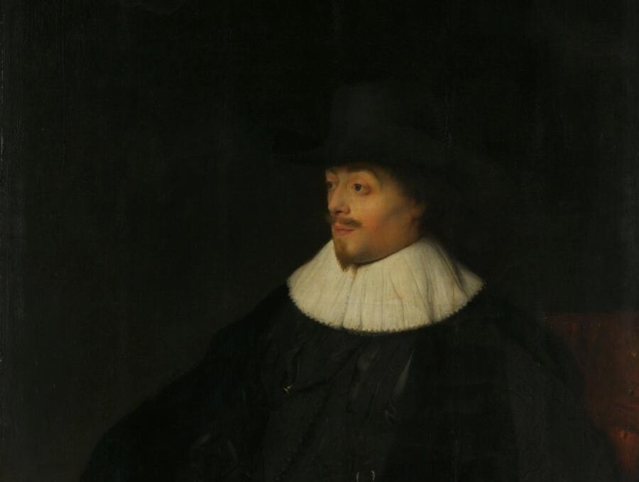 Ян Ливенс, «Портрет Константина Гюйгенса» (фрагмент), 1629 г.