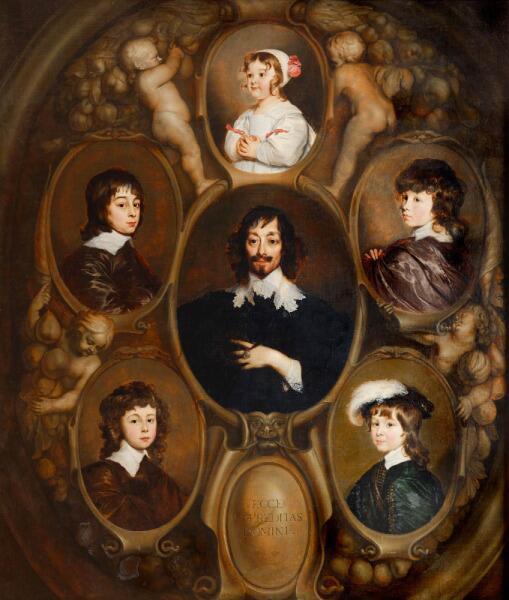 Адриан Ханнеманс, «Портрет Гюйгенса и его пятерых детей», 1640 г.