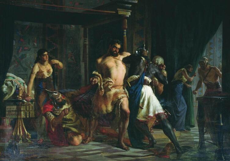 А. Д. Кившенко, «Самсон и Далила», 1876 г.