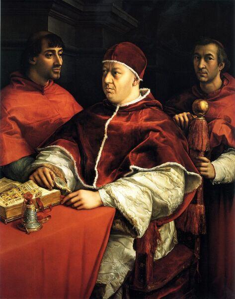 Рафаэль Санти, «Портрет папы Льва Х»