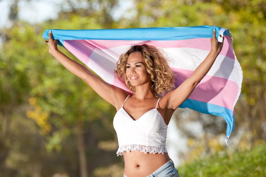 Трансгендерный флаг