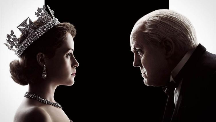 Ее Королевское величество и сэр Уинстон Черчилль в сериале