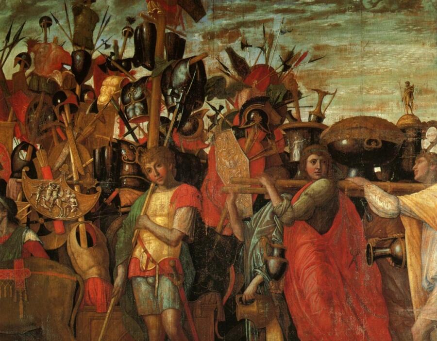 Андреа Мантенья, «Триумф Цезаря» (фрагмент)
