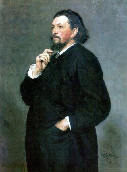 И. Е. Репин, «Портрет Митрофана Петровича Беляева», 1886 г.