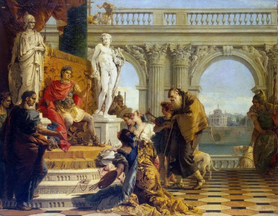 Джованни Баттиста Тьеполо, «Меценат представляет императору Августу свободные искусства», 1743 г.