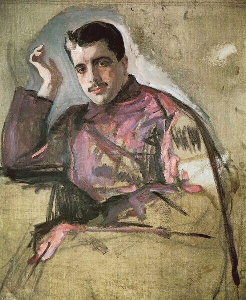 В. А. Серов, «Портрет Сергея Дягилева», 1904 г.