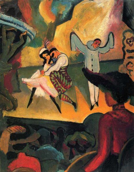 Август Маке, «Русский балет», 1912 г.