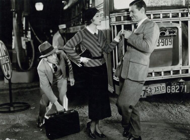 Кадр из к/ф «Это случилось однажды ночью», 1934 г.