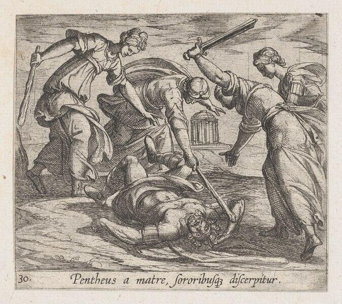 Антонио Темпеста, «Смерть Пенфея», 1606 г.
