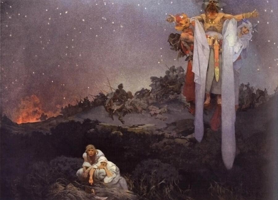 Альфонс Муха, «Славяне на своей земле», 1912 г.