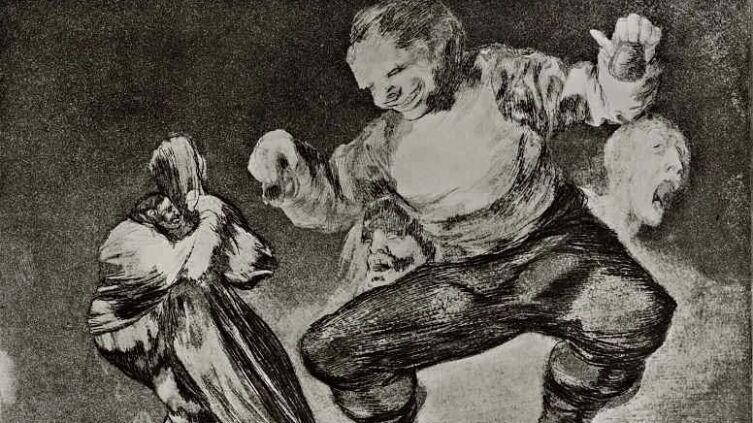 Франсиско Гойя, «Идиот» (серия «Диспаратес», лист 4), 1819 г.