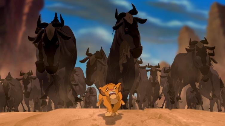 Бегущее стадо гну в мультфильме «Король-лев»