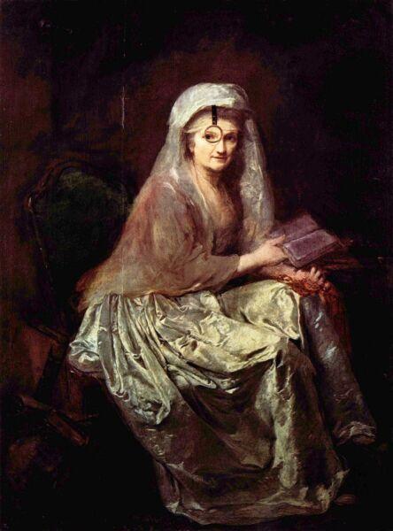 Анна Доротея Тербуш, «Автопортрет с моноклем», 1777 г.