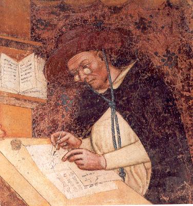 Фрагмент фрески Томмазо да Модена из церкви Тревизо, 1352 г.