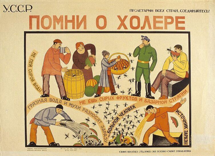 Советский плакат, 1921 г.