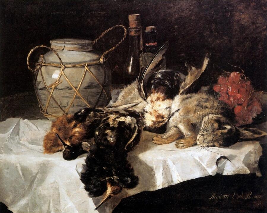 Генриетта Роннер-Книп, «Натюрморт с дичью», XIX век