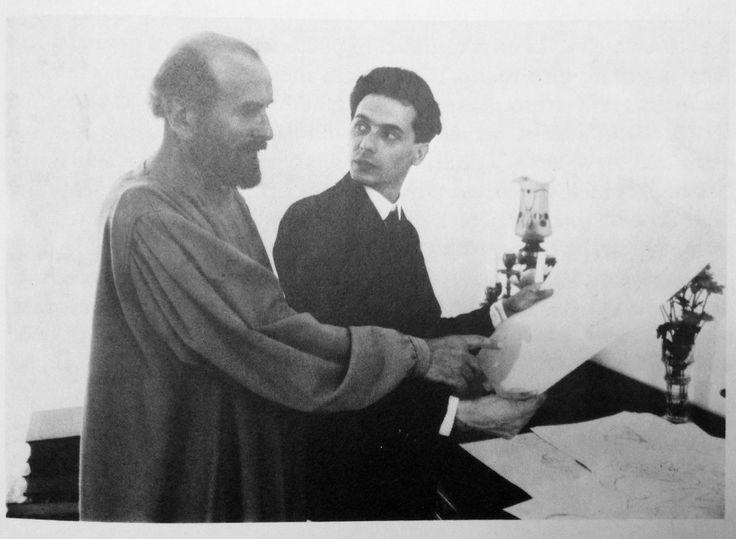 Густав Климт и Эгон Шиле, 1908 г.