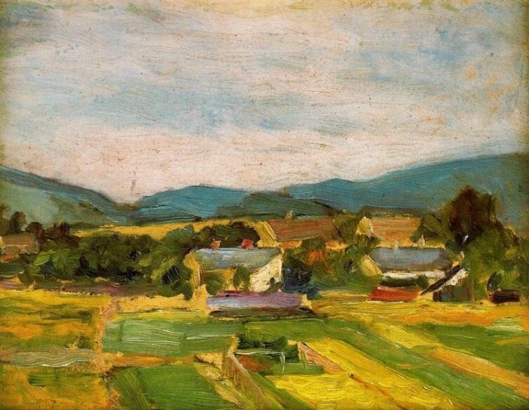 Эгон Шиле, «Пейзаж в Нижней Австрии», 1907 г.