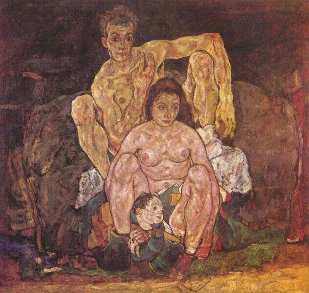 Эгон Шиле, «Семья», 1918 г.