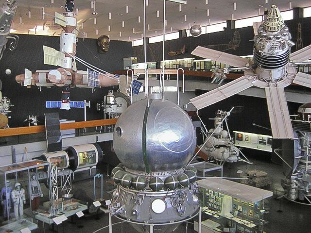 Экспозиция музея космонавтики