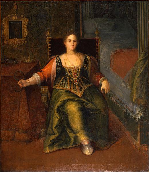 Неизвестный художник, «Портрет женщины в образе Клеопатры», XVI век