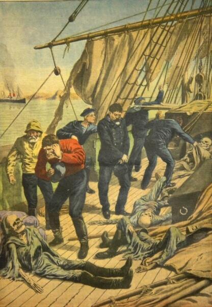 Обнаружение «Мальборо». Иллюстрация из журнала  Le Petit Journal, 1913 г.