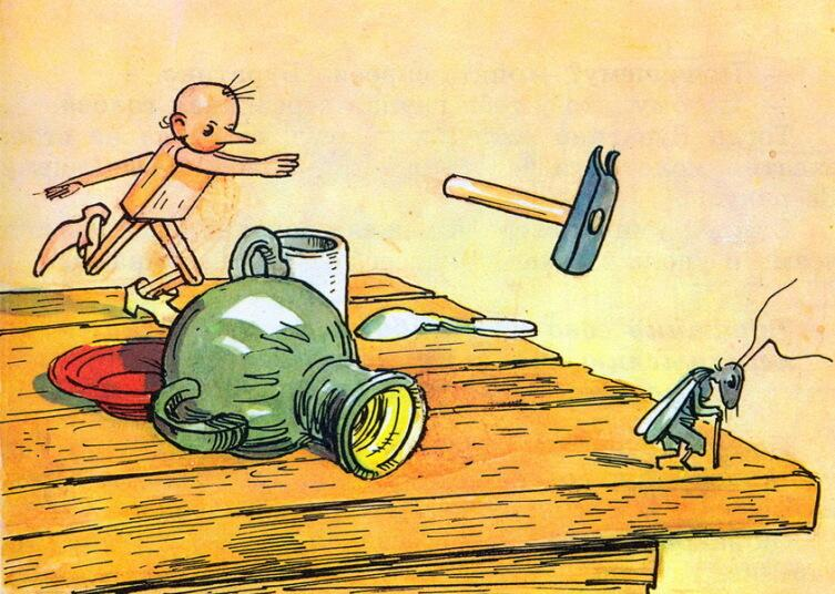 Иллюстрация к сказке А. Н. Толстого «Золотой Ключик, или Приключения Буратино»