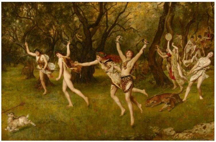 Джон Кольер, «Вакханалия», 1886 г.