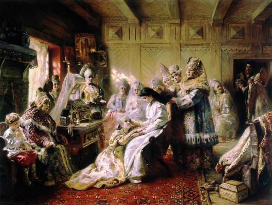 К. Е. Маковский, «Под венец», 1887 г.