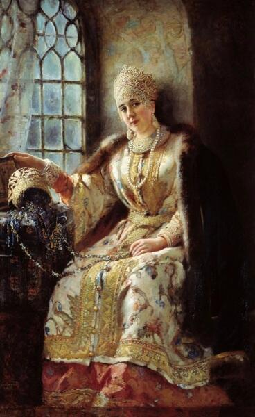 К. Е. Маковский, «Боярыня у окна», 1885 г.
