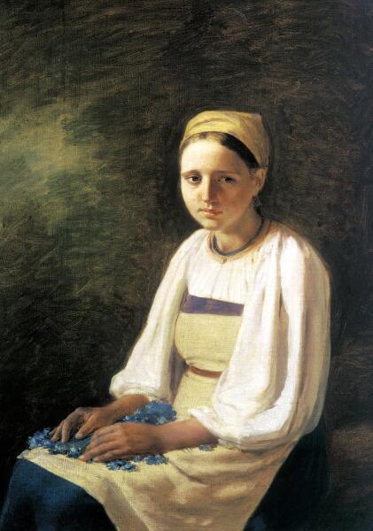 А. Г. Венецианов, «Крестьянка с васильками»