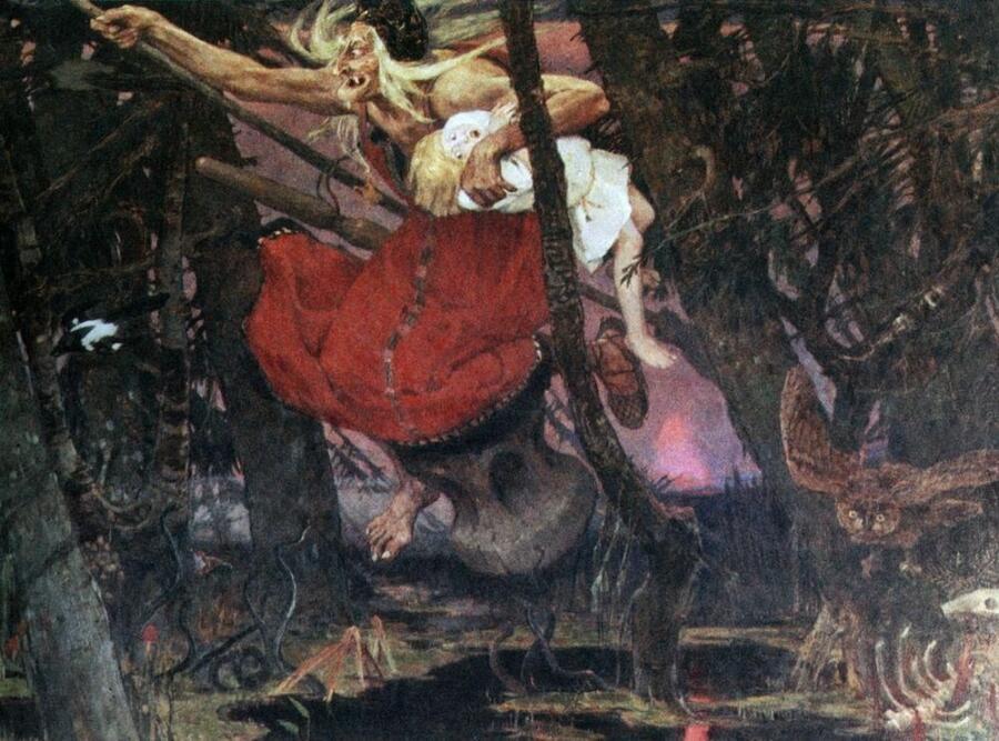 В. М. Васнецов, «Баба-яга», 1917 г.