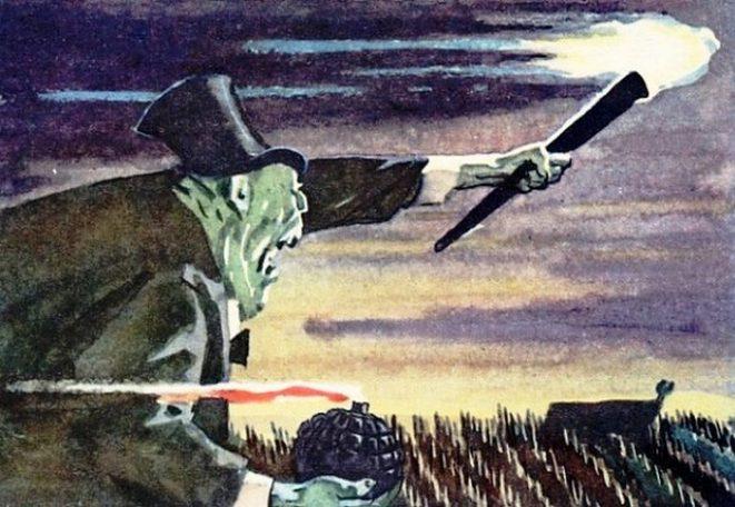 Плакат СССР. Поджигатели войны. Фрагмент